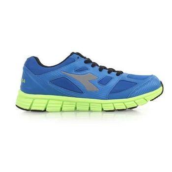 【DIADORA】男慢跑鞋-路跑 運動鞋 藍螢光綠