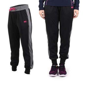 【MJ3】女彈性鬆緊腰帶附抽繩 薄刷毛束口休閒褲-休閒長褲 黑深灰桃紅