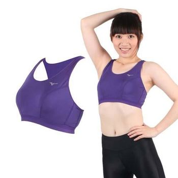 【MIZUNO】女吸濕排汗運動背心BRA   紫