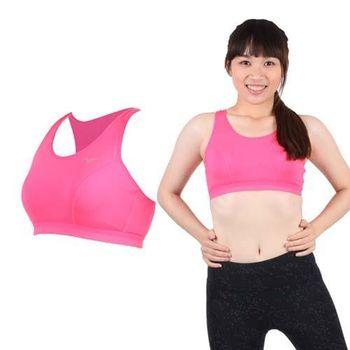 【MIZUNO】女吸濕排汗運動背心BRA- 螢光粉