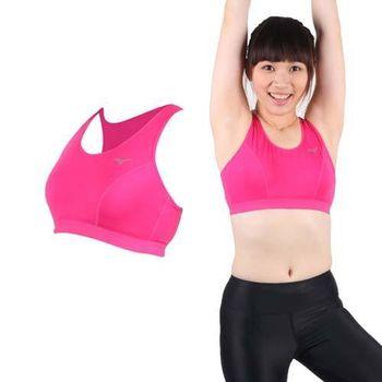 【MIZUNO】女吸濕排汗運動背心BRA- 玫紅