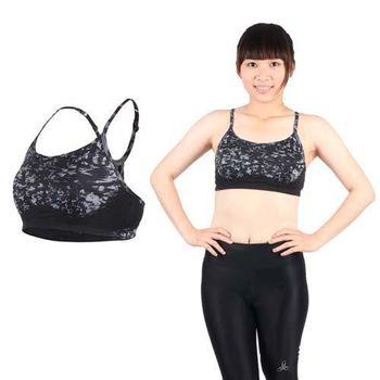 【NEWBALANCE】女吸濕排汗運動背心BRA-迷彩黑灰