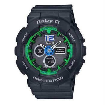 BABY-G 啦啦隊的俏皮競賽時尚運動限量腕錶-黑-BA-120-1B
