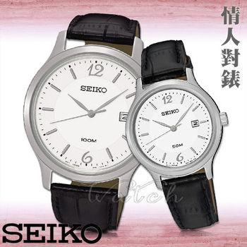 【SEIKO 精工】甜蜜浪漫情侶對錶(SUR149P1+SUR791P1)