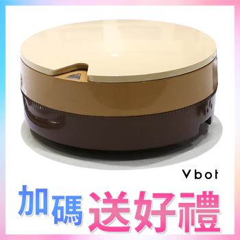 ►買一送四◄Vbot 二代加強版i6+蛋糕機器人 超級鋰電池智慧掃地機(極浄濾網型)(巧克力)