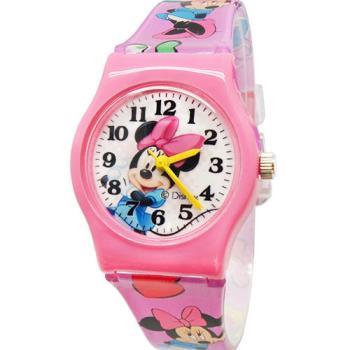 【Disney迪士尼】卡通錶 - 活潑米妮