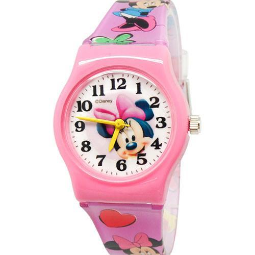 【Disney迪士尼】卡通錶 - 可愛米妮
