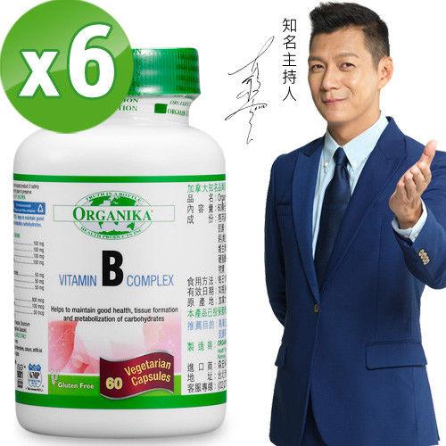 【Organika優格康】高單位維他命B群素食膠囊(60顆)6入組