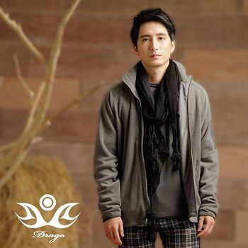 【Drago】型男時尚中空保暖纖維刷毛立領外套(6色任選)S-XXL