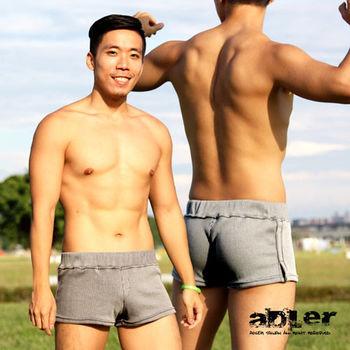 【aDLer】個性條紋四角內褲(灰直條)