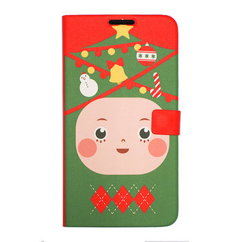 HAPPYMORI SAMSUNG GALAXY NOTE3 聖誕小子 書本式皮套