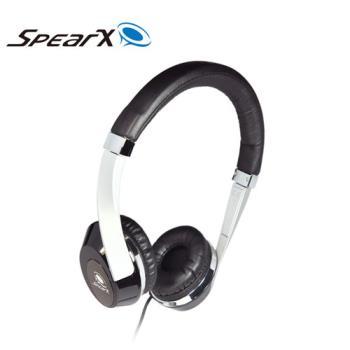 SpearX 繽紛輕巧時尚 MH-121 耳罩式耳機-實踐黑