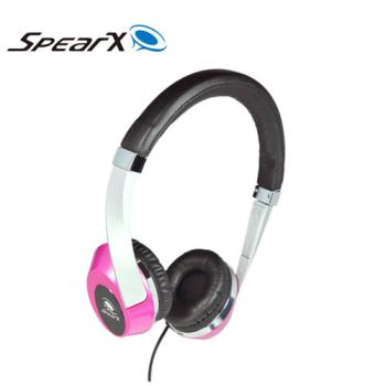 SpearX 繽紛輕巧時尚 MH-121 耳罩式耳機-夢想桃
