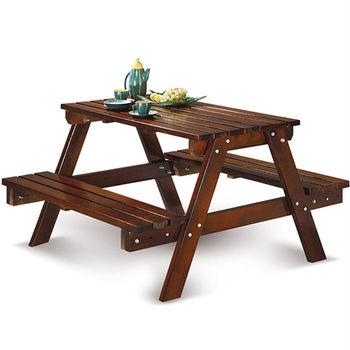 【椅吧】戶外庭院休閒實木大桌椅組