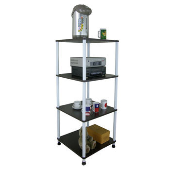 【Dr. DIY】寬40公分-四層長管-置物架/電器架(三色可選)