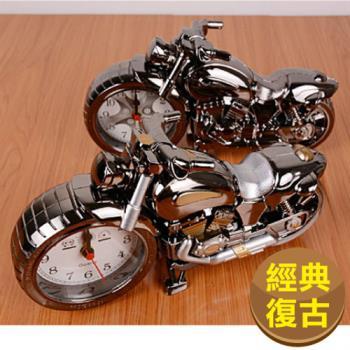 仿古復古摩托車 機車 重機 鬧鐘 時鐘(重機迷必備)(石英機芯)