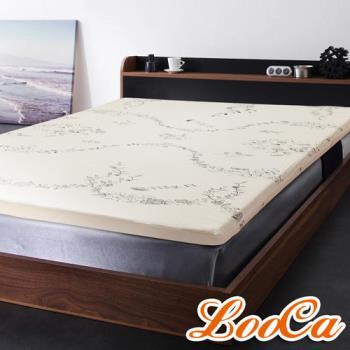 《限時送》LooCa 色織天絲纖維5cm天然乳膠床墊(單大3.5尺)