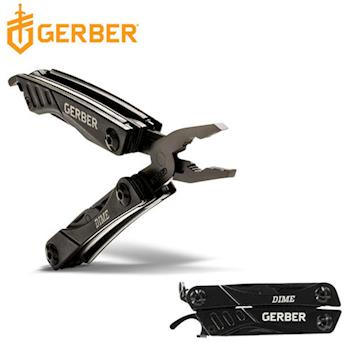 Gerber Dime 戶外多功能鑰匙圈工具鉗-軍事黑(盒裝) 30-000469