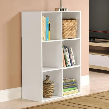 【咱的厝】菲爾六格櫃/展示櫃/書櫃/收納櫃/隔間櫃(白色)