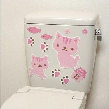 日本製造SANKO兒茶素馬桶消臭貼(粉紅貓)