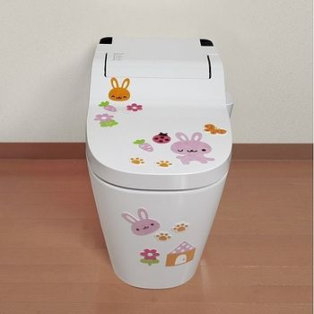 日本製造SANKO兒茶素馬桶消臭貼(小兔)