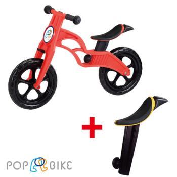 【BabyTiger虎兒寶】POPBIKE 兒童充氣輪胎滑步車-- AIR 充氣胎 + 同色增高坐墊 組