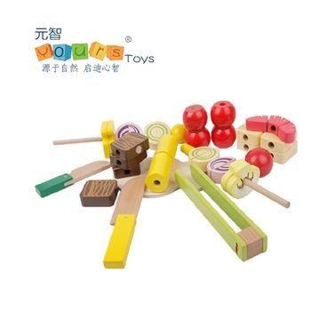 【Sunnybaby生活館】YOURSTOYS 木製串燒切切看