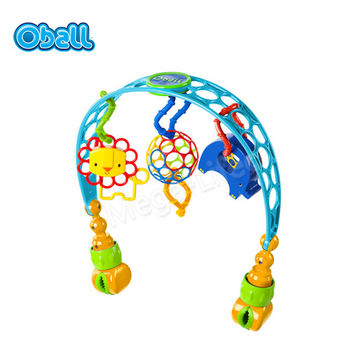 Kids II Oball-歡樂動物推車汽座玩具夾
