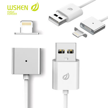 WSKEN鋁合金㊣ 磁吸充電線 Apple Lightning 接頭 iPhone6 6S Plus iPhone 5 5S 5C 磁吸線 磁力充電線