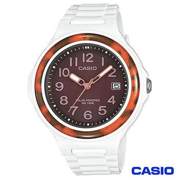 CASIO卡西歐 豹紋太陽能簡約時尚腕錶 LX-S700H-5B