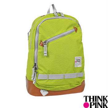 THINK PINK - 義大利品牌 輕旅系列 舒適透氣 機能後背包 - 螢光綠