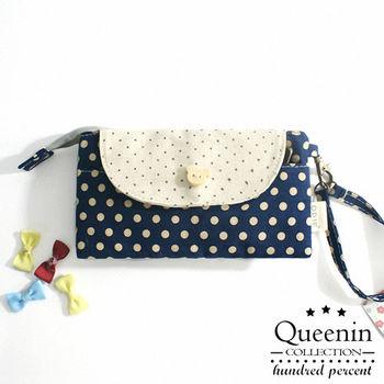 DF Queenin皮夾 - 文藝小清新系列可愛隨身手拿包
