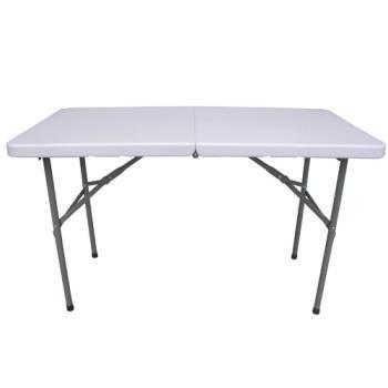 【頂堅】(4尺寬)二段式可調整高低-對疊折疊桌/工作桌/露營桌/野餐桌/拜拜桌