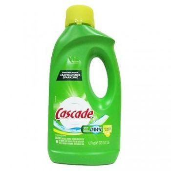 美國Cascade 洗碗機專用洗碗精--檸檬(45oz./1270ml)*9/箱加贈餐具亮光劑3.5oz*1