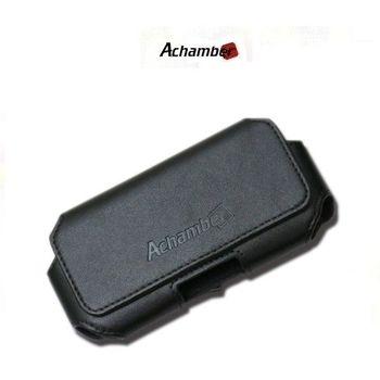 【Achamber艾強伯】真皮可調式橫式皮套(L)(5吋以下手機可裝殼)