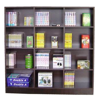 【Dr. DIY】12格(寬120公分)中型書櫃/收納櫃/置物櫃-二色可選