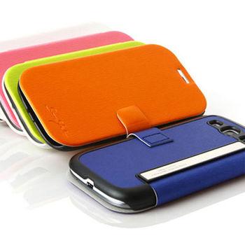 TRIDEA SAMSUNG GALAXY S3 炫彩皮革書本式皮套