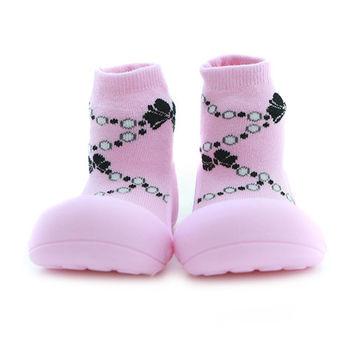 Attipas襪型學步鞋[真品平輸]-桃粉珍珠