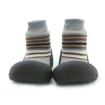 Attipas襪型學步鞋[真品平輸]-摩登咖啡