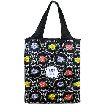 任-ANNA SUI 安娜蘇 華麗薔薇購物袋(黑)