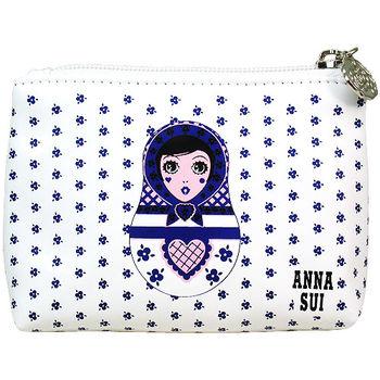 任-ANNA SUI 安娜蘇 Dolly洋娃娃零錢包(藍)