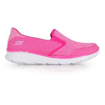 【SKECHERS】AIR-COOLED 女休閒健走鞋- 運動鞋 走路鞋 粉紅白