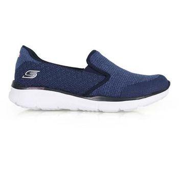 【SKECHERS】AIR-COOLED 女休閒健走鞋- 運動鞋 走路鞋 深藍白