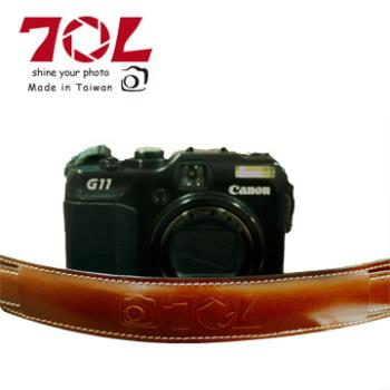 70L SL1601 COLOR STRAP 真皮彩色相機背帶(杏茶銀褐)