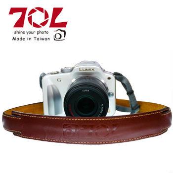 70L SL1601 COLOR STRAP 真皮彩色相機背帶(杏茶金褐)