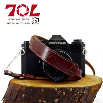 70L SWL1216 COLOR STRAP 真皮彩色相機背帶(杏茶金褐)