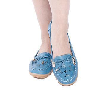 A-BOWO真皮雷射激光手工縫線鞋