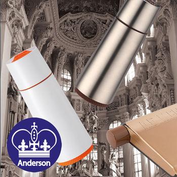 【Anderson】英倫學院風雙杯一壺超值組(清新白保溫杯+簡約銀保溫杯+A5水壺)
