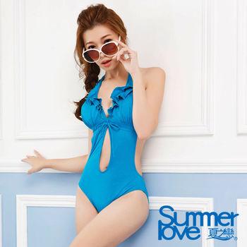 【SUMMERLOVE 夏之戀】時尚性感連身三角泳衣