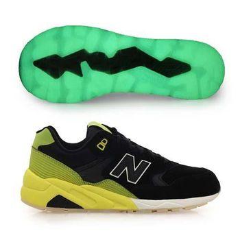 【NEWBALANCE】580系列 男復古運動鞋- NB N字鞋 黑黃